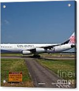 China Airlines Airbus A340 Acrylic Print