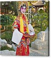 Chinese Opera Girl - In Full Traditional Chinese Opera Costumes. Acrylic Print