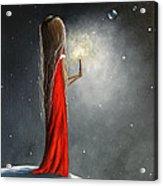 Christmas Candle By Shawna Erback Acrylic Print by Shawna Erback