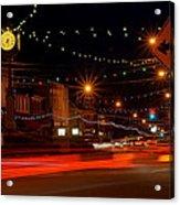 Christmas In Columbiana Ohio Acrylic Print