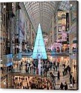 Christmas Shopping In Toronto Acrylic Print