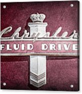 Chrysler Fluid Drive Emblem Acrylic Print