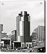 Cincinnati Black And White Panorama Acrylic Print