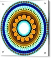 Circle Motif 214 Acrylic Print