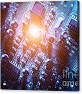 Circuit Board Abstract Acrylic Print