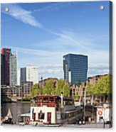 City Of Rotterdam In Netherlands Acrylic Print