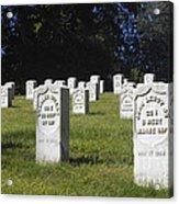 Civil War Dead At Arlington Acrylic Print
