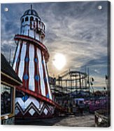 Clacton Pier Acrylic Print by Andrew Lalchan