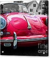 Classic Red P Sports Car Acrylic Print