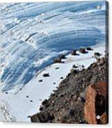 Cliffs And Sea Ice Acrylic Print