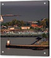 Coastal Life In Maine Acrylic Print