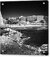 Coastal Path Past Salou Waterfront Properties On The Costa Dorada Catalonia Spain Acrylic Print