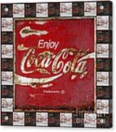 Coca Cola Signs Acrylic Print