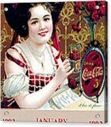 Coca - Cola Vintage Calendar Acrylic Print