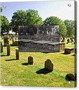 Col. Benjamin Church And Elisabeth Pabodie Gravesites In Little Compton Ri Acrylic Print