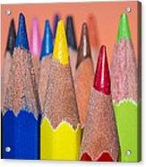 Color Pencil Acrylic Print