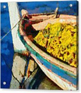 Colorful Boat Acrylic Print