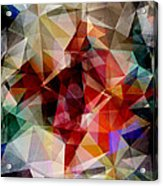 Colorful Geometric Abstract Acrylic Print