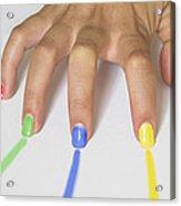 Colorful Nails Acrylic Print