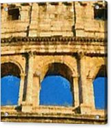 Colosseum In Rome Under Late Afternoon Light Acrylic Print