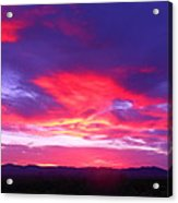 Colourful Arizona Sunset Acrylic Print