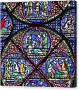 Colourful Stained Glass Window In Acrylic Print