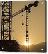 Construction Cranes Acrylic Print