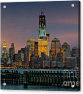 Construction Of The Freedom Tower Acrylic Print