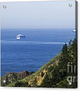 Container Ship On Open Water Acrylic Print