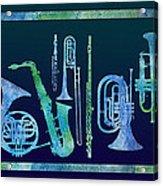 Cool Blue Band Acrylic Print