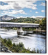 Cornish-windsor Covered Bridge IIi Acrylic Print