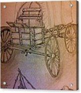 Covered Wagon Acrylic Print