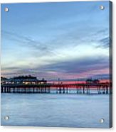 Cromer Pier At Sunrise On English Coast Acrylic Print by Fizzy Image