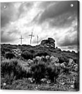 Cross Acrylic Print by Bernard Jaubert