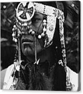 Crow Native American Traditional Dress Rodeo Gallup New Mexico 1969 Acrylic Print