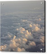 Cumulus Clouds At Sunset Acrylic Print
