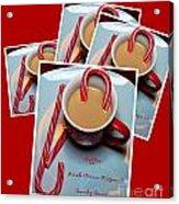 Cup Of Christmas Cheer - Candy Cane - Candy - Irish Cream Liquor Acrylic Print
