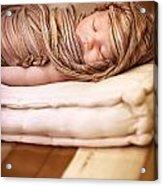 Cute Baby Sleeping Acrylic Print