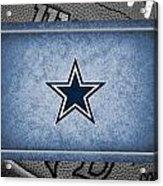 Dallas Cowboys Acrylic Print by Joe Hamilton