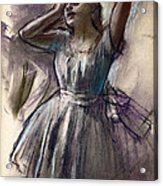 Dancer Stretching Acrylic Print