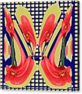Dancing Tulip Red Exotic Flower Petal Based Wave Pattern  Created By Navinjoshi Reiki Healing Master Acrylic Print