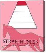 Define Straightness Acrylic Print