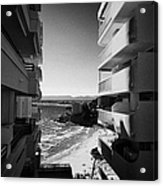 Densely Packed Salou Waterfront Properties On The Costa Dorada Catalonia Spain Acrylic Print