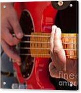 Bass Playing - Denver Acrylic Print