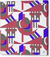 Design From Nouvelles Compositions Decoratives Acrylic Print