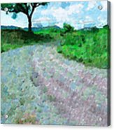 Dirty Road Painting Acrylic Print