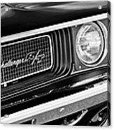 Dodge Challenger Rt Grille Emblem Acrylic Print
