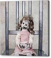 Doll With Tea Cup Acrylic Print