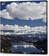 Donner Lake Donner Pass With Snow Acrylic Print