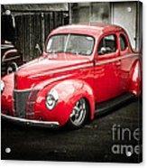 2 Door Red Acrylic Print